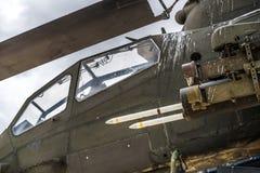 Ère du Vietnam d'hélicoptère d'Apache photo stock