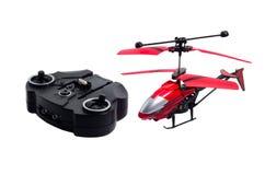 遥控直升机玩具在白色被隔绝的背景中 图库摄影