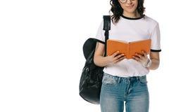 非裔美国人的青少年的学生看书的播种的图象 免版税库存图片
