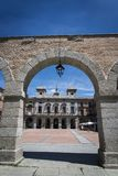 马约尔广场,阿维拉,卡斯蒂利亚y利昂,西班牙 免版税库存图片