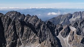 高Tatras山全景  影视素材
