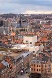 鲁汶,富兰德,比利时老镇的概略的看法  库存照片