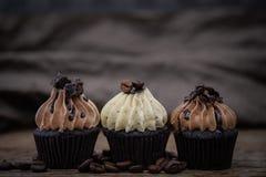 鲜美杯形蛋糕自创松饼 免版税库存照片