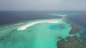 鸟瞰图 热带海的海岛 股票视频