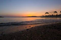 黑海日落 库存图片