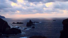 黄昏的神秘的海洋 股票录像