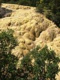 黄龙旅游景点位于松潘县,Aba藏族羌族自治州,四川,中国 它享用 库存图片