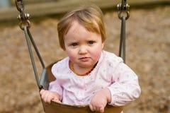 Één Éénjarige op Schommeling Royalty-vrije Stock Fotografie