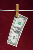 Één Amerikaanse dollar Stock Afbeelding