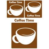 Het embleem van de koffie Royalty-vrije Stock Fotografie