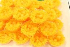 Één of ander soort Thais dessert Kanom belde Leren riem Stock Foto's
