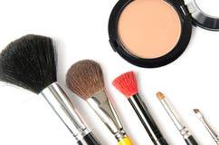 Één of andere make-upborstel Royalty-vrije Stock Afbeelding