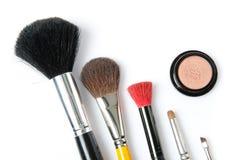 Één of andere make-upborstel Stock Foto's
