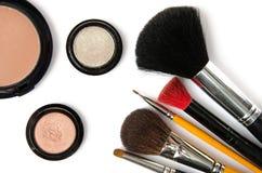 Één of andere make-upborstel Stock Afbeelding