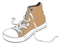 Één bruine schoen Stock Afbeelding