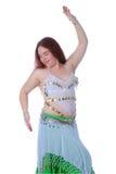 Één buikdansenmeisje Stock Afbeelding