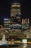 Één Canada Vierkant Canary Wharf Stock Foto's