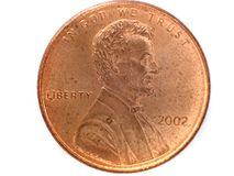 één cent van de V.S. stock afbeelding