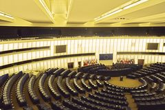 Één dag in Europese Perlamento van Straatsburg - Frankrijk 022 Royalty-vrije Stock Afbeelding