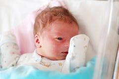 Één dag oude pasgeboren baby Stock Afbeelding