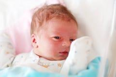 Één dag oude pasgeboren baby Royalty-vrije Stock Afbeeldingen