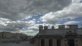 Één dag in St. Petersburg stock video