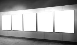 Leeg kader in kunstmuseum Stock Afbeelding
