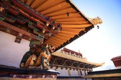 Één de bouw hoek van Jokhang-Tempel Royalty-vrije Stock Afbeelding