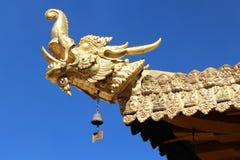 Één de bouw hoek van Jokhang-Tempel Royalty-vrije Stock Afbeeldingen