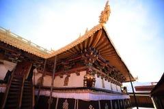 Één de bouw hoek van Jokhang-Tempel Stock Fotografie