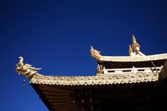 Één de bouw hoek van Jokhang-Tempel Stock Afbeeldingen
