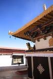 Één de bouw hoek van Jokhang-Tempel Stock Afbeelding