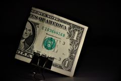 Één de dollar van Verenigde Staten bankbiljet royalty-vrije stock afbeelding