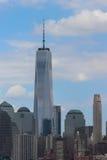 Één de Stadshorizon van New York van de World Trade Centertoren Stock Foto's