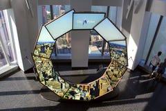 Één de Stadsimpuls van het World Trade Centerwaarnemingscentrum Stock Afbeeldingen