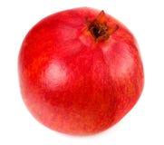 één die granaatappelfruit op een witte achtergrond wordt geïsoleerd royalty-vrije stock foto's
