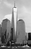 Één die World Trade Center van Hudson River wordt gezien Stock Afbeelding