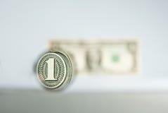 Één dollar Royalty-vrije Stock Afbeeldingen