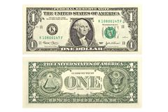 Één Dollar Royalty-vrije Stock Foto