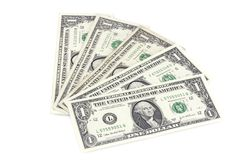 Één dollar Amerikaanse rekeningen Royalty-vrije Stock Foto