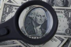 Één dollar in de Verenigde Staten van Amerika Stock Foto