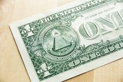 Één dollar van de V Royalty-vrije Stock Fotografie