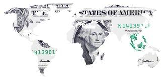 Één dollar van de V Royalty-vrije Stock Afbeelding