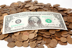 Één dollar van de V.S. Royalty-vrije Stock Foto's