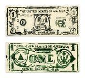 Één Dollar van de V.S. Stock Afbeelding