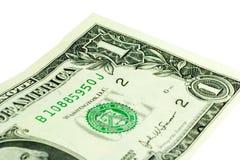 Één Dollar - Voorzijde Royalty-vrije Stock Foto's