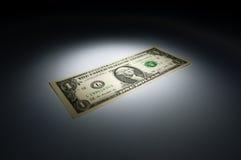 Één dollarbankbiljet Stock Foto