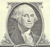 Één dollarbankbiljet. Detail. royalty-vrije stock afbeelding