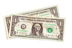Één dollarbankbiljetten Stock Foto