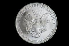 De V.S. de Fijne Zilveren Dollar van Één Ons Stock Afbeeldingen